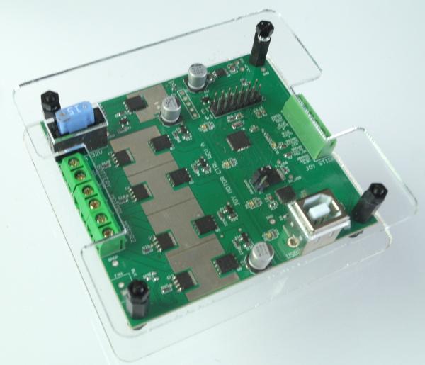 experimental joystick and motor controller board